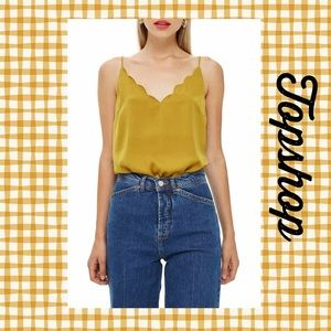 (R) TOP▪️Mustard Yellow Scallop Camisole